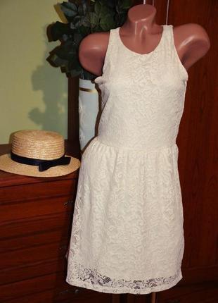 Стильное платье в кружево кружевное платье сарафан