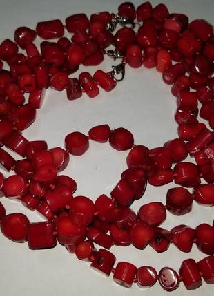 Бусы красный коралл 47 см