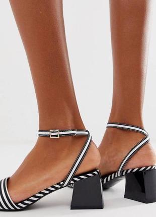 Стильные босоножки туфельки на небольшом каблучке летние туфли...
