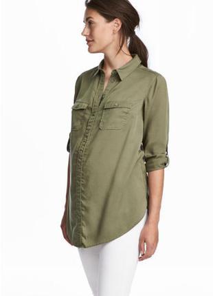 Рубашка-туника свободного фасона. можно беременным. h&m mama