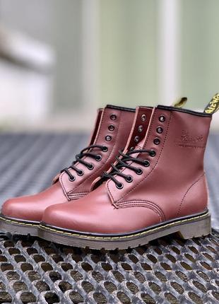😍dr. martens 1460 cherry😍мужские кожаные осенние ботинки марти...