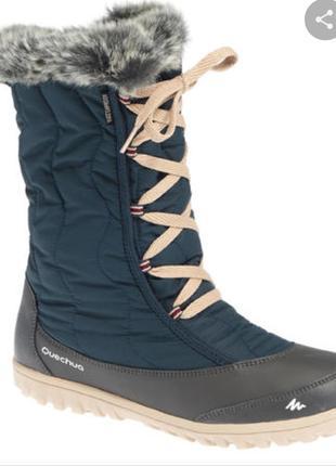 Чоботи жіночі sh500 x-warm для зимового туризму, водонепроникні