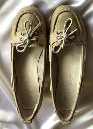 Бежевые туфли timberland на танкетке, натуральная кожа, 39 раз...