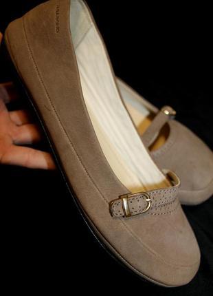 39 разм. балетки vagabond. кожа на широкую ножку