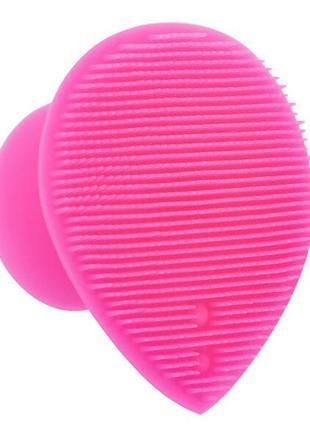 Щетка спонж силиконовая для умывания и ухода за кожей