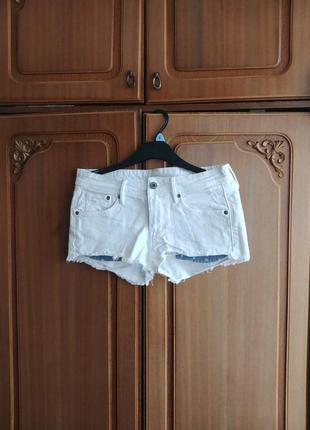 Шорты джинсовые (белые)
