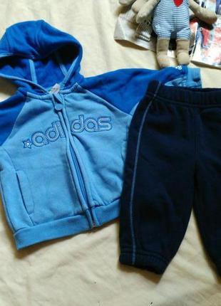 Оригинальный теплый спортивный костюм adidas