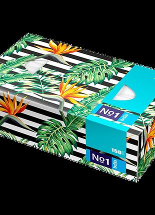 Хустинки паперові унiверсальні Bella №1 двошарові, 150 штук