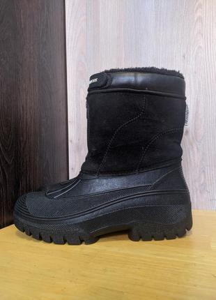 Ботинки сапоги кожаные зимние снегоходы groundwork