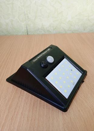 Лампа, фонарь на солнечной батарее с датчиком