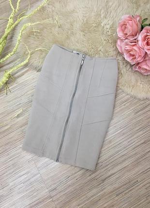 Бежевая юбка от stradivarius