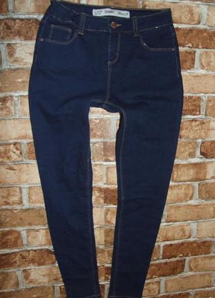 Синие джинсы девочке скинни  стрейч 11 - 12 лет denim co
