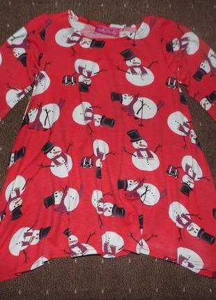 Новогоднее платье-туничка 4-5 лет