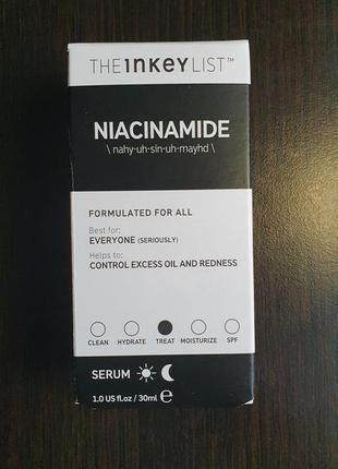Сыворотка для лица the inkey list niacinamide 10%