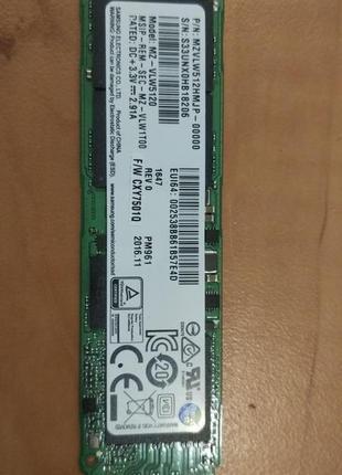 SSD Samsung MZ-VLW5120 512GB PCI-E M.2