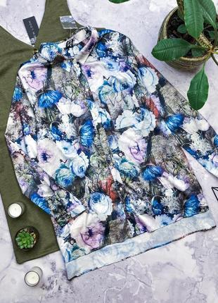 Новая дизайнерская рубашка с цветами 3d
