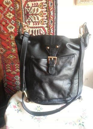 Женская кожаная сумка-рюкзак Maxx New York