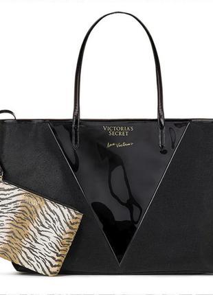 Стильная черная сумка + клатч от виктории сикрет victoria's se...