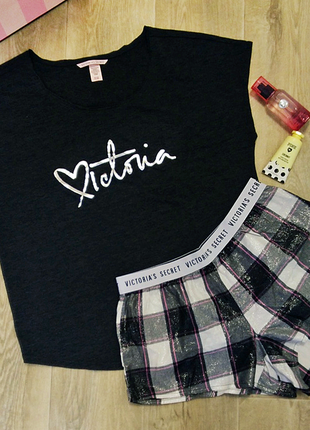 Пижама для сна футболка + шорты victoria´s secret оригинал сша