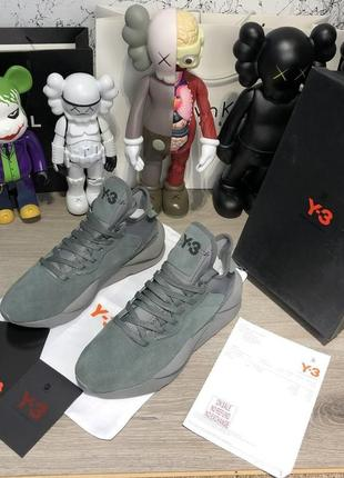 Adidas y-3 kaiwa sneakers gray suede