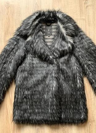Пальто еко шуба из искусственной меха шерсти ламы оверсайз