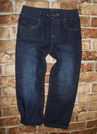Синие джинсы на подкладке мальчику 5-6 лет lupilu