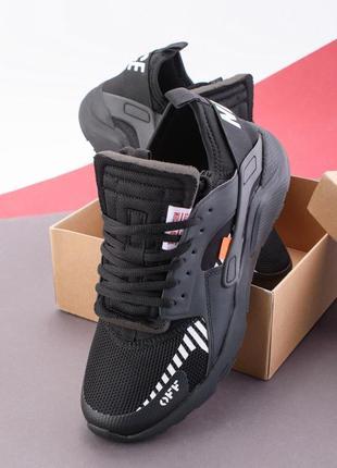 Мужские кроссовки с вставками из эко-кожи