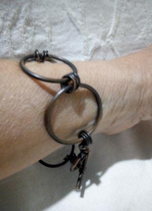 браслет металл из колец