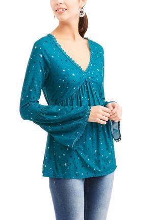Кофточка блуза рукава воланы звезды no boundaries