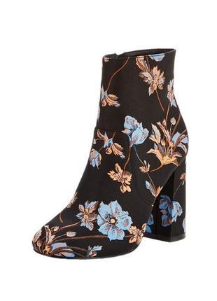 Ботильоны v by very боты каблук вышивка украшение цветы