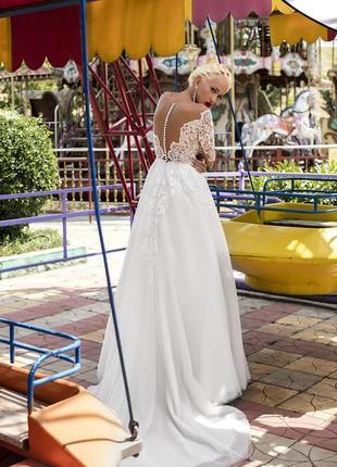 Daria karlozi free camelia платье свадебное спинка пуговки кру...