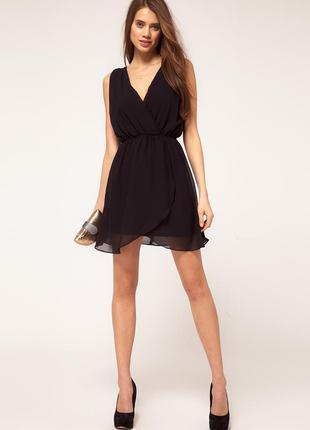 Черное платье шифон бусины tfnc london открыта спинка