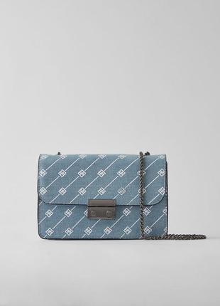 Bershka мини сумка деним клатч сумочка