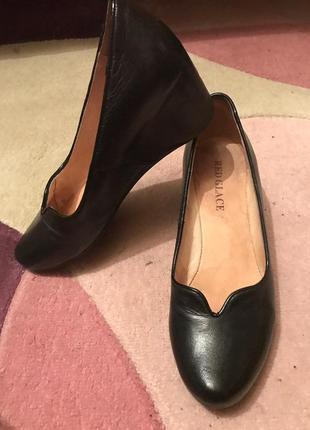 Туфли на платформе классика red glace кожаные