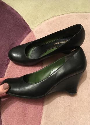 Туфли на платформе черные naturalizer кожаные натуральные кожа