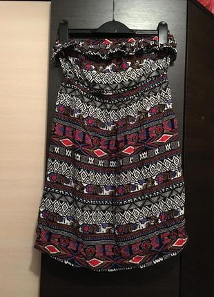 Платье мини сарафан forever 21 бюстье