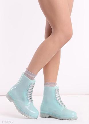Vices резиновые ботинки на шнуровке непромокаемые польские