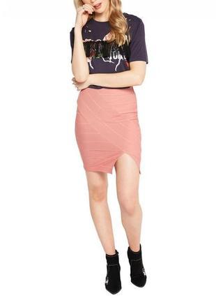 Miss selfridge юбка бандажная с разрезом