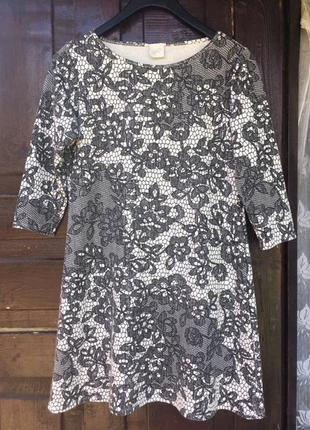 Платье узор свободного кроя оверсайз g21