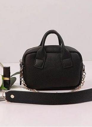 Мини сумочка с длинным ремешком клатч эксклюзив