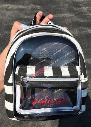 Рюкзак мини kendall lylie прозрачный в полоску эксклюзив