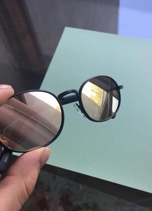 Очки солнцезащитные зеркальные овальные premium forever 21