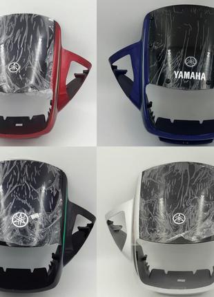 Yamaha YBR-125 ЮБР-125 обтекатель со стеклом морда