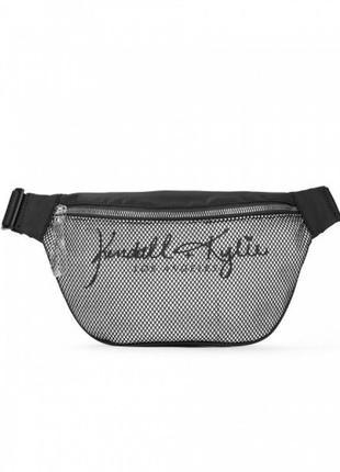Черная поясная сумка kendall +kylie бананка сеточка