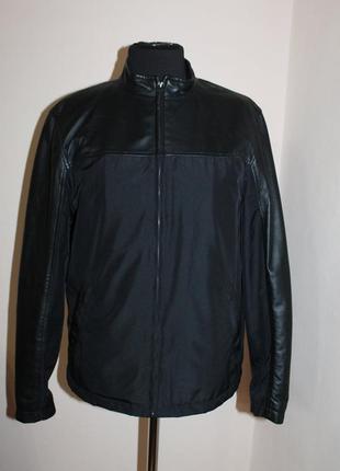 Куртка з вставками з лайки calvin klein