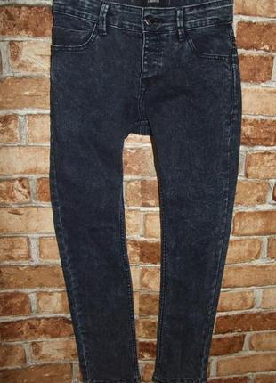 Синие джинсы стрейч мальчику 10 лет