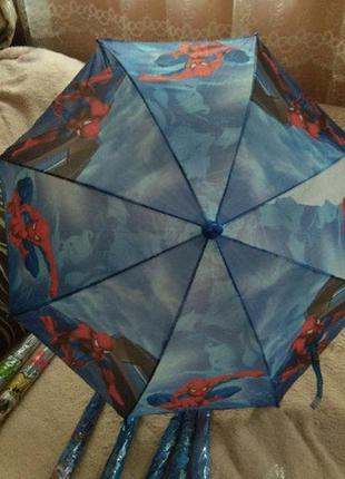 Детский зонтик трость человек-паук