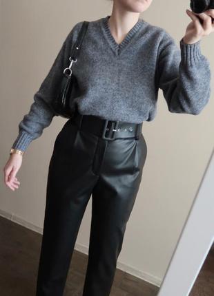 Винтажный шерстяной свитер / 100% шерсть / базовый джемпер owe...