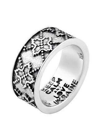 Кольцо серебро 925 орнамент вс029