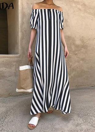 Платье в полоски